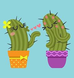 Blowkiss cactus vector
