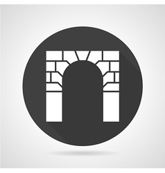 Brick archway black round icon vector