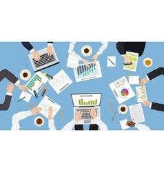 Business management teamwork discuss meeting vector image vector image