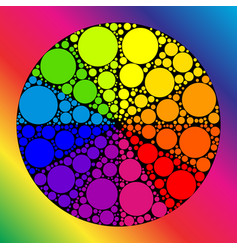 color wheel or color circle vector image