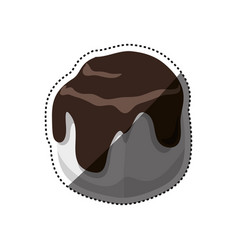 Delicious chocolate dessert vector