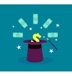 Easy money miracle magician hat vector