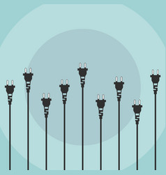 Electric plugs flat design concept vector