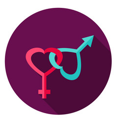 Gender circle icon vector
