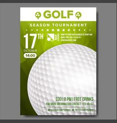 Golf poster sport event announcement vector