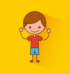 happy child vector image vector image