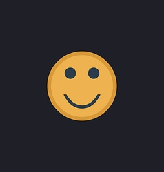 Happy face computer symbol vector
