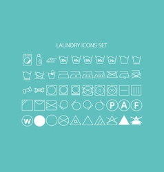 Icons laundry set vector