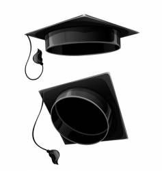 Isolated cap of university student vector