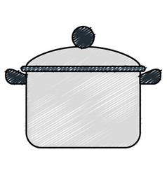 Kitchen pot isolated icon vector