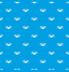Live crab pattern seamless blue vector