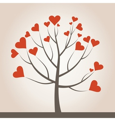 Love tree3 vector image vector image