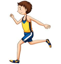 Man athlete running in race vector