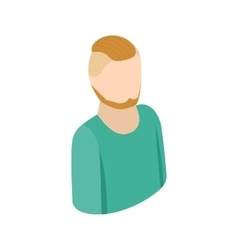 Man with a beard icon isometric 3d style vector
