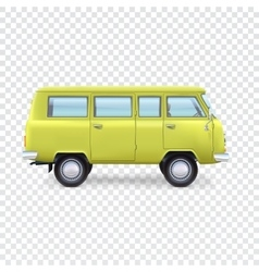 Minibus on transparent background vector image vector image