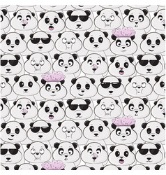 panda species pattern diversity of black vector image vector image
