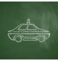 police car icon vector image
