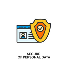 protection of personal data icon vector image