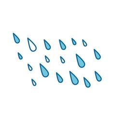 rain drops isolated icon vector image vector image