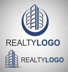 realty logo 6 3 vector image vector image