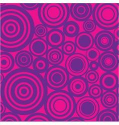 retro circles background vector image vector image