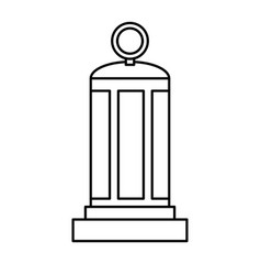 retro lantern icon vector image