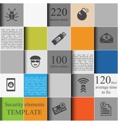 Security elements template vector