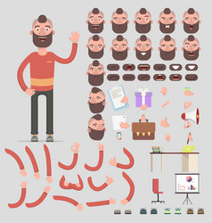 symbol of a man for creating scenes vector image vector image