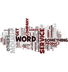 The power of word of mouth text background word vector
