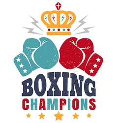 Boxing retro poster new color vector