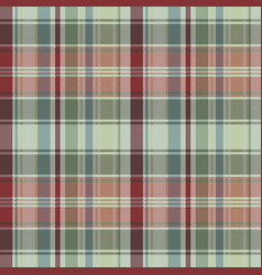 Fabric texture pixel seamless pattern plaid vector