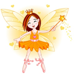 Little orange fairy vector