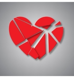 Breaking heart vector