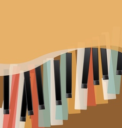 piano keys retro vector image