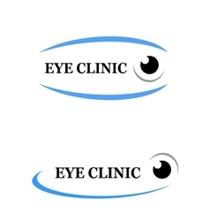 Icon of eye clinic vector