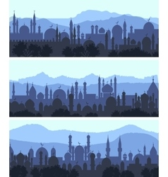 Cityscape arab city banners vector