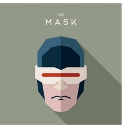Superhero robot mask and glasses serious strict vector