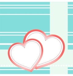 Postcard hearts vector