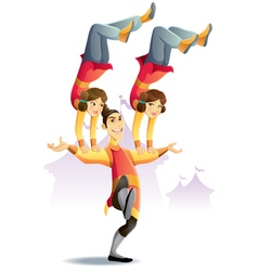 Circus acrobatic vector