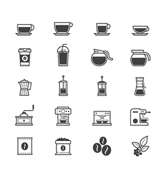 Coffee and drink icons vector