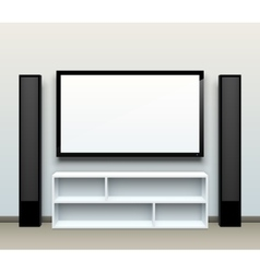 TV on the wall vector image