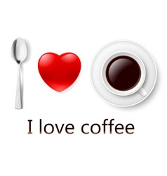 I love coffee 01 vector