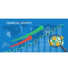 Banner concept of financial growth vector