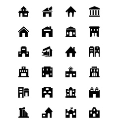 Building icons 2 vector