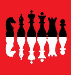chess pieces set vector image vector image