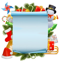 Christmas Scroll vector image vector image