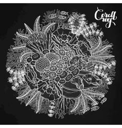 Coral reef design vector image