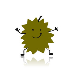 durian funny character for your design vector image