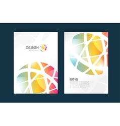 Globe brochure template abstract arrow vector