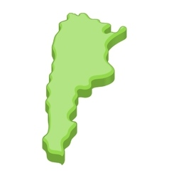 Green map of Argentina icon cartoon style vector image vector image